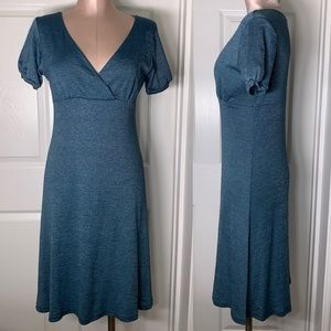 Michael Stars Flared Shift Dress Blue Sz One Size